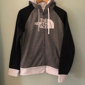North Face black white grey full zip hoodie M